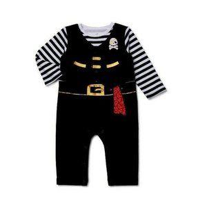 Infant Boys Celebrate Black White Gold Red Hallowe